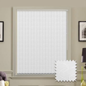 Vertical blinds - Made to Measure vertical blind in Lapwing White